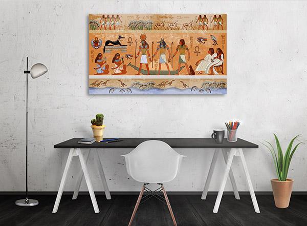 Ancient Egypt Scene Prints Canvas
