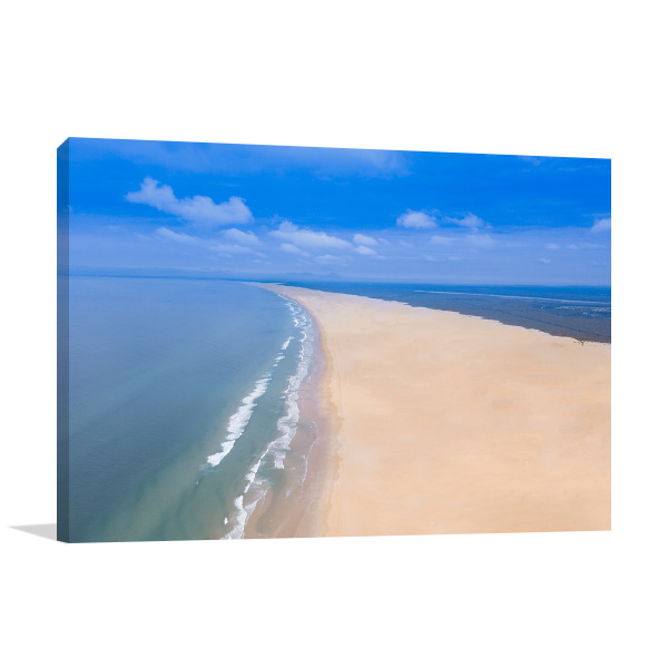 Anna Bay Wall Art Print NSW Aerial View Photo Canvas
