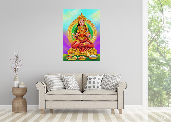 Annapoorna Goddess Print Artwork