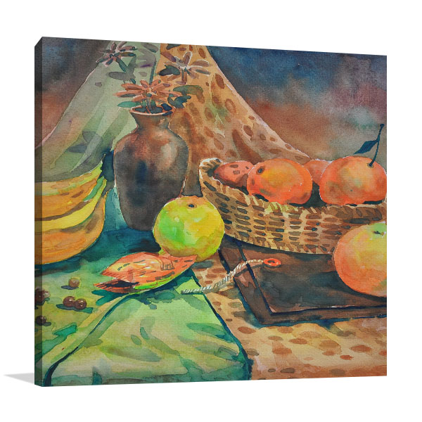 Apple, Banana And Orange Prints Canvas