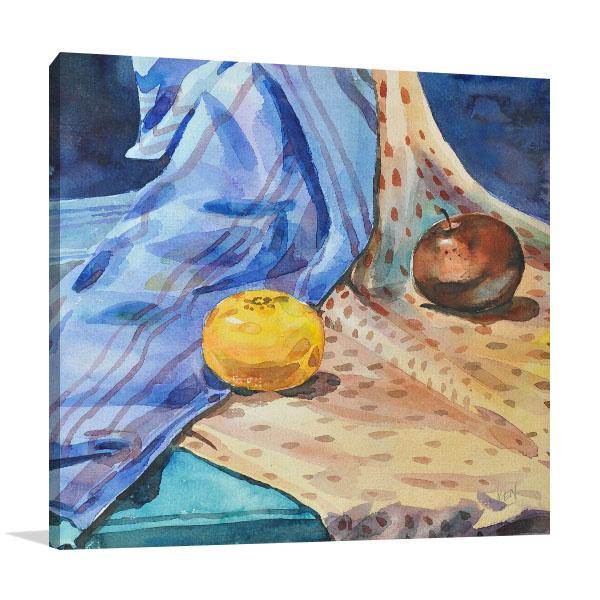 Apple & Orange Canvas Prints