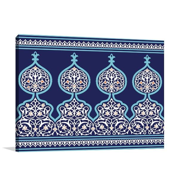 Arabic Floral Canvas Art Prints