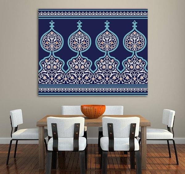 Arabic Floral Prints Canvas