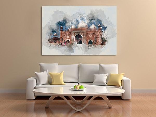 Architecture Splatters Canvas Prints
