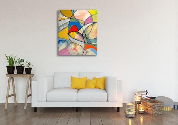 Arty Cubism Canvas Art