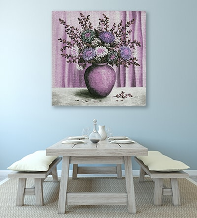 Asters Bouquet Canvas Art Print