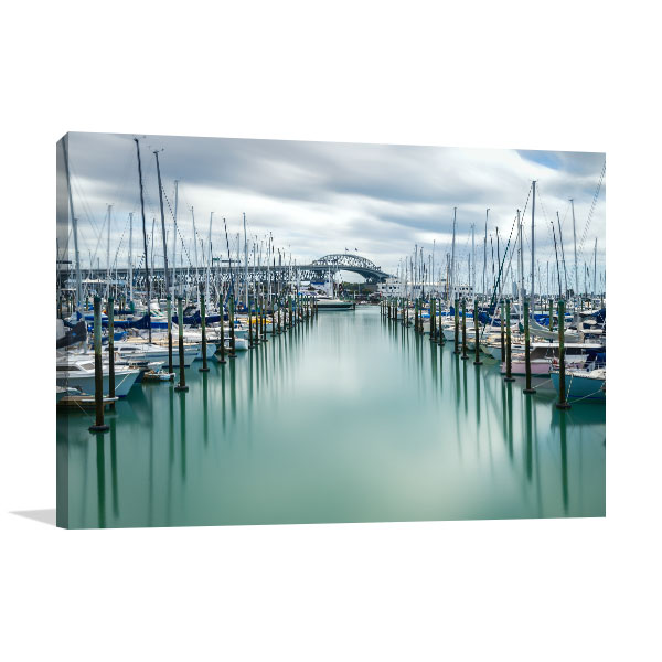 Auckland Art Print Harbour Artwork Canvas