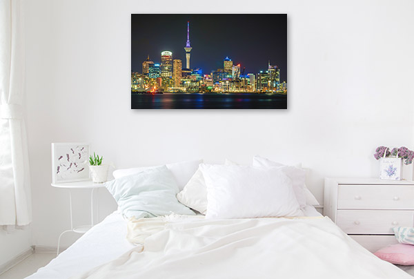Auckland Art Print Skyline at Night Photo Artwork