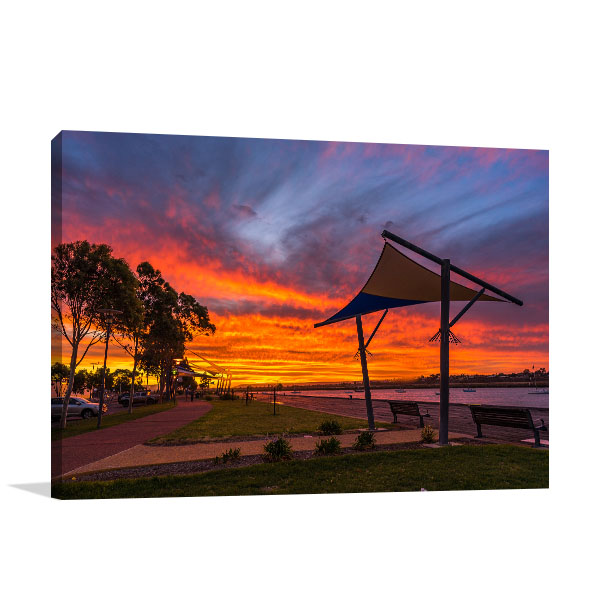 Augusta Wall Art Print Lovely Sunset Artwork