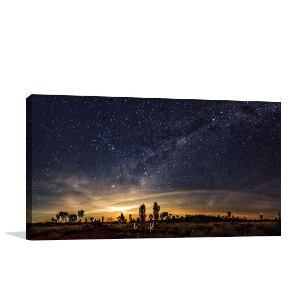 Australia Outback Art Print Milky Way Print Artwork