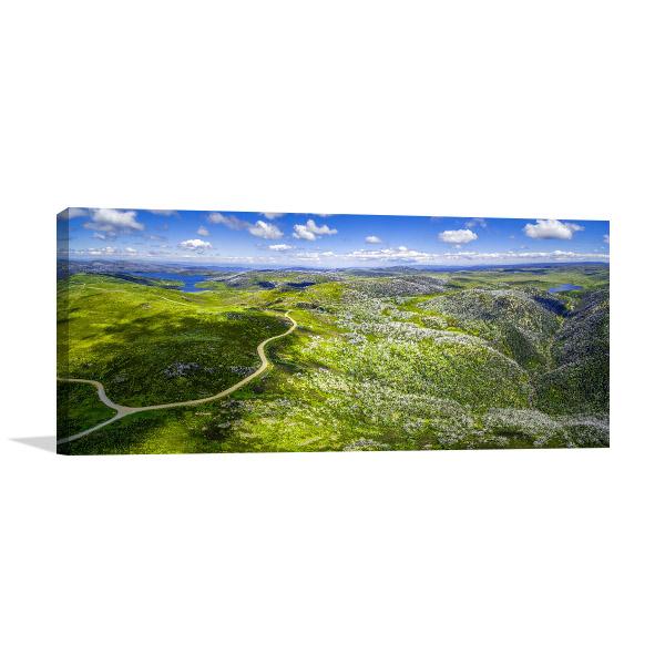 Australian Alps Wall Art Print Aerial Artwork