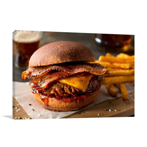 Bacon Cheeseburger Wall Art Photo Print