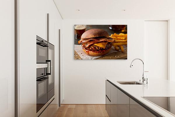 Bacon Cheeseburger Picture Canvas