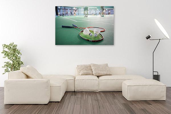 Badminton on Court Canvas Prints