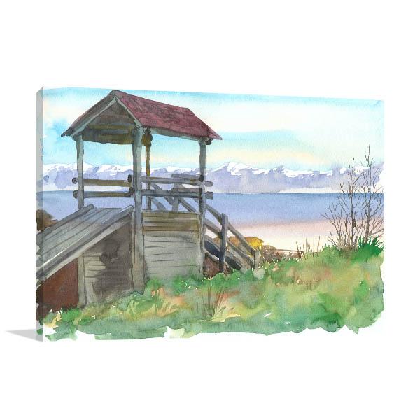 Baikal Village Canvas Art Prints