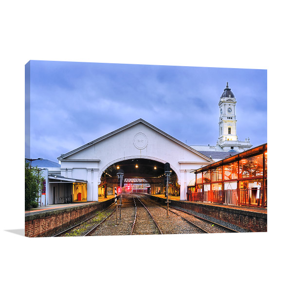 Ballarat Canvas Print Train Station Picture Wall