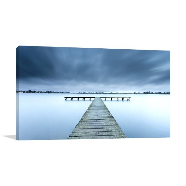 Ballarat Wall Print Lake Wendouree Jetty Photo Canvas