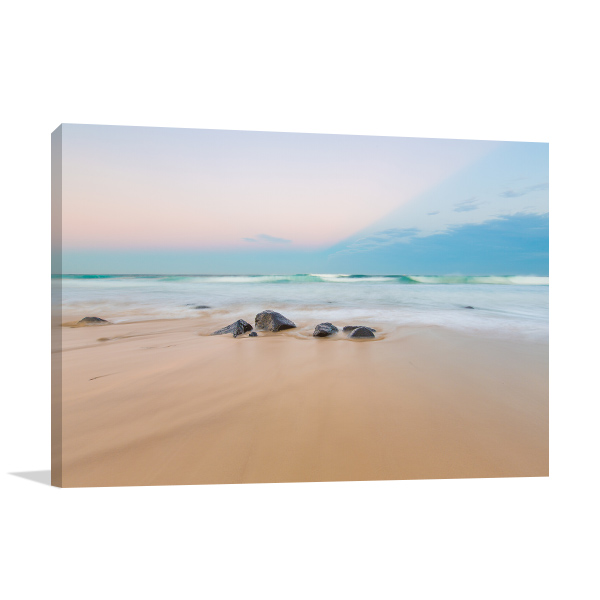 Ballina Canvas Print Lighthouse Beach Wall Art