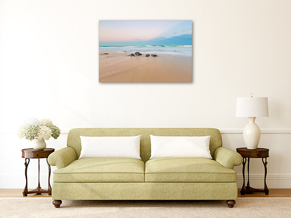 Ballina Canvas Print Lighthouse Beach Wall Picture