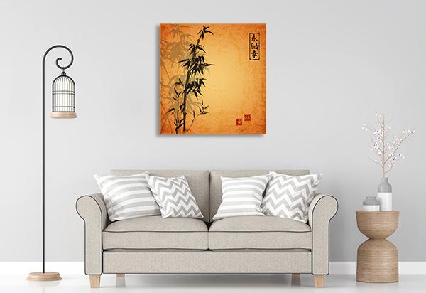 Bamboo Brown Print Artwork