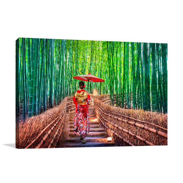Bamboo Forest Canvas Art