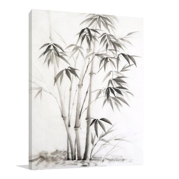Bamboo Paint Print Artwork