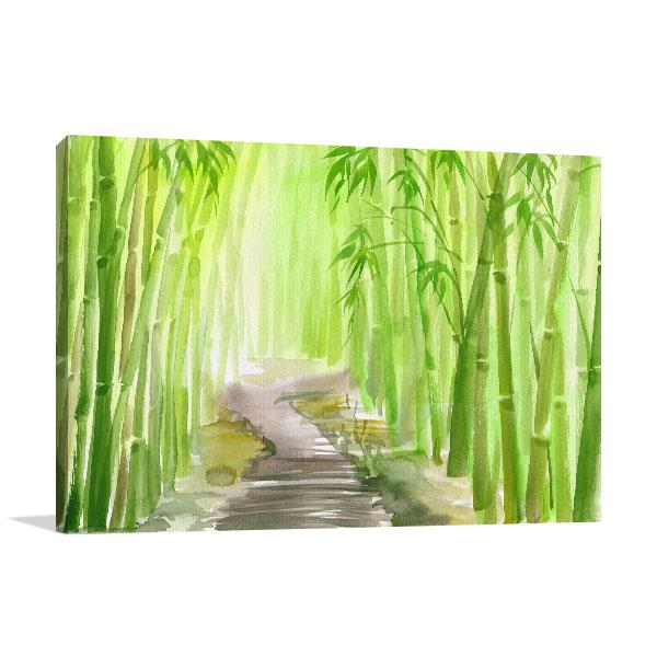 Bamboo Path Alley Wall Art