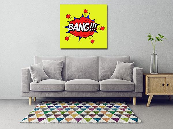 Bang Popart Canvas Prints