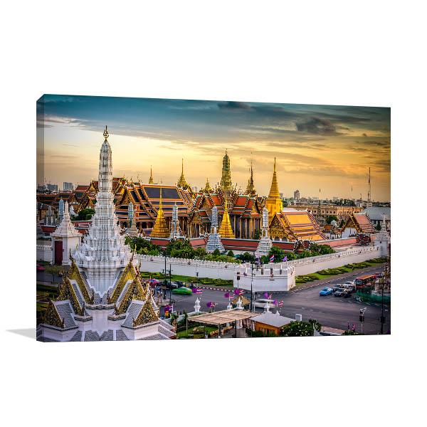 Bangkok Art Print Grand Palace Wall Artwork