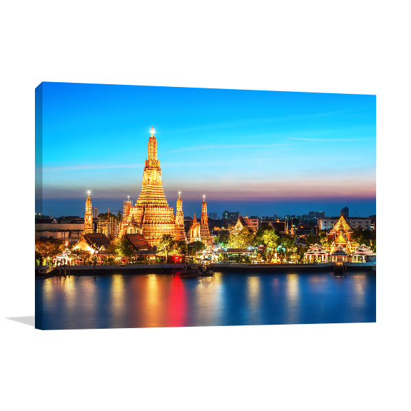 Bangkok Art Print Wat Arun Photo Wall