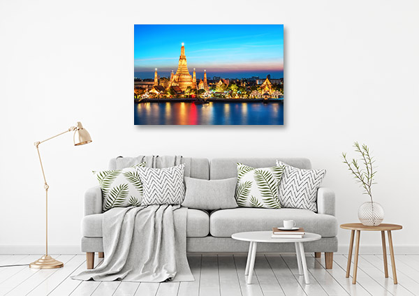 Bangkok Art Print Wat Arun Canvas Photo