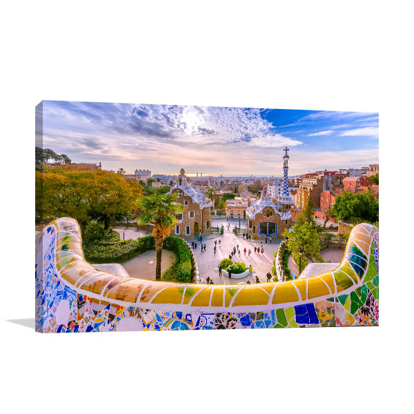 Barcelona Art Print Parc Guell Photo Artwork