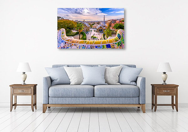 Barcelona Art Print Parc Guell Artwork Photo