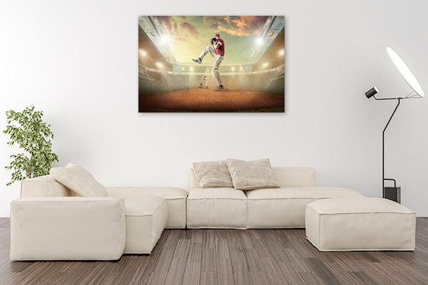 Baseball Player Print Wall Art