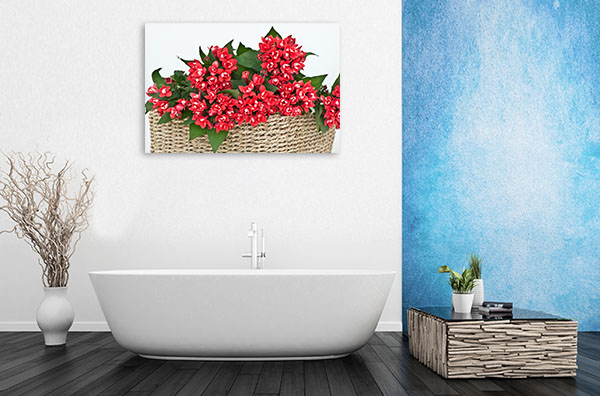 Basket of Red Longiflora Wall Art