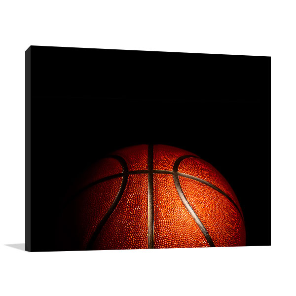 Basketball Black Background Print Picture
