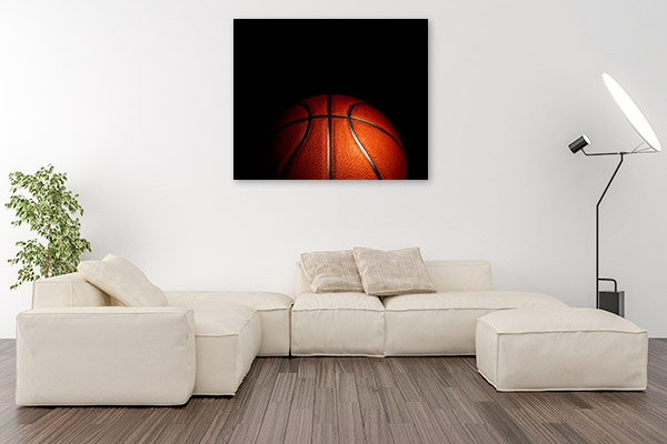 Basketball Black Background Wall Artwork