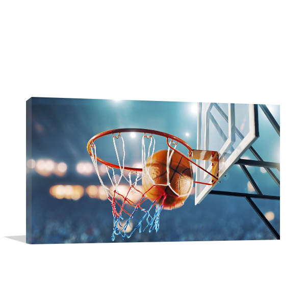 Basketball Hoop Print Artwork
