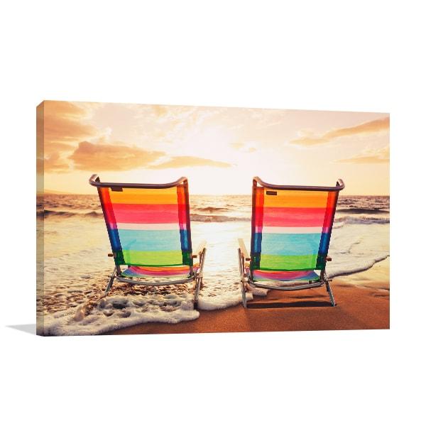 Beach Chairs Canvas Art