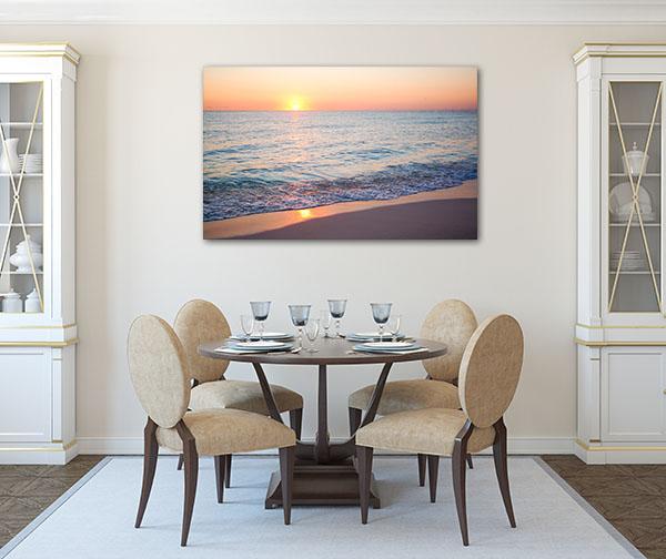 Beach Sunrise In Cancun Print Artwork