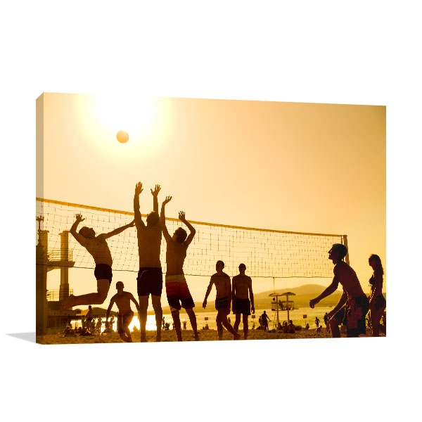 Beach Volleyball Players Photo Art