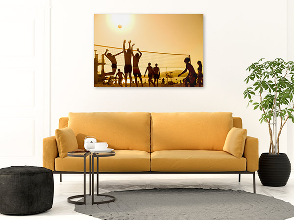 Beach Volleyball Players Picture Art