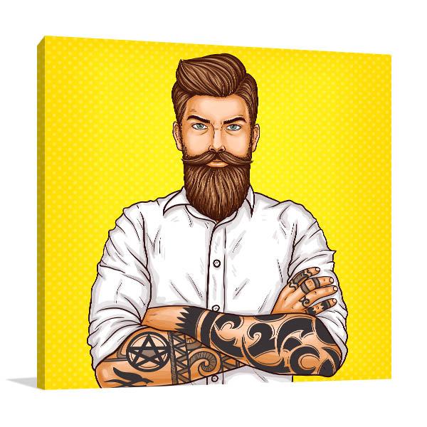 Bearded Man Artwork