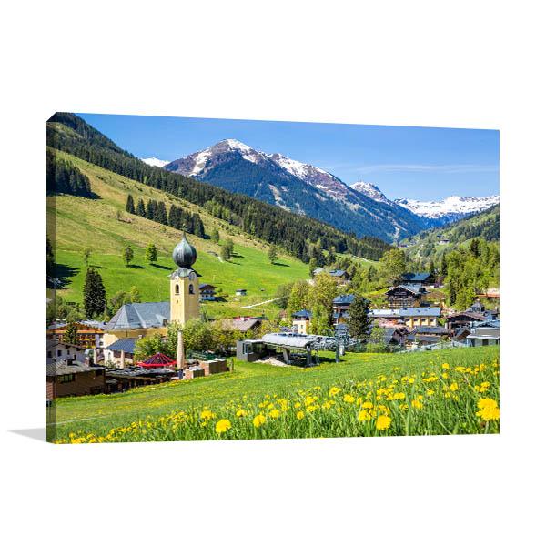 Beautiful Austrian Village Print Artwork