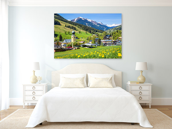 Beautiful Austrian Village Canvas Wall Art