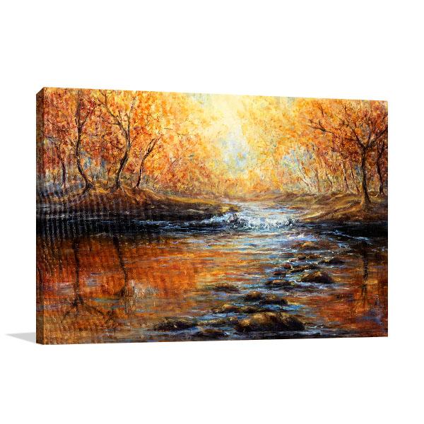 Beautiful Autumn Forest Print Artwork
