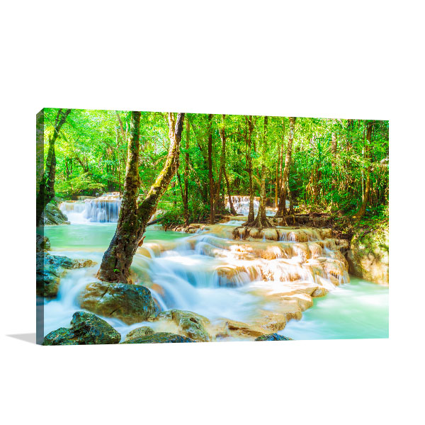 Beautiful Erawan Waterfall Wall Art