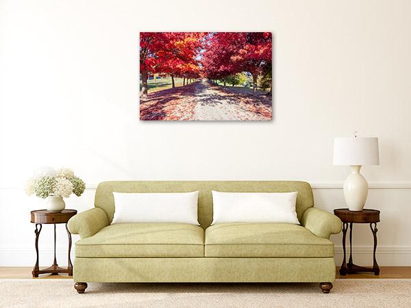 Beechworth VIC Canvas Print Autumn Wall Artwork