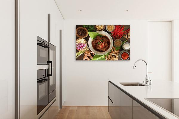 Beef Rendang Art Print Top View Artwork Picture