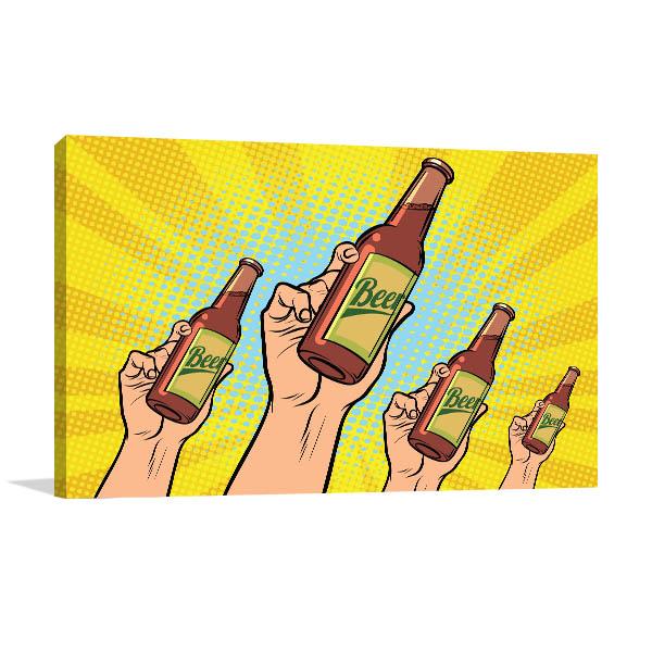 Beer Bottles Canvas Art Prints